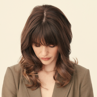 Classic Layers with Bangs haircut